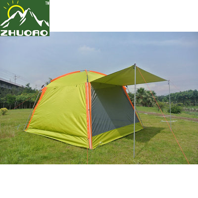 ZHUOAO High quality oxford sunshleter canopy tent beach tent fishing tent barbecue pergola/Sunshade beach awnig tent outdoor double layer 10 14 persons camping holiday arbor tent sun canopy canopy tent
