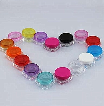 Sample Jar Cream Cosmetic Packing Container Bottle Plastic 100pc/lot 5g Clear White, Black, Pink, Blue Etc 10 Colors Avaliable