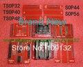 NEW original Adaptadores MiniPro TL866 TSOP32 TSOP40 TSOP48 SOP44 SOP56 Soquetes TL866A TL866CS Programador Universal