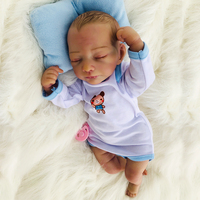 46 см кукла реального возрождается ребенка винил новорожденный Мягкая силиконовая кукла Boneca вручную окрашенные волосы 18 дюймов малышей под