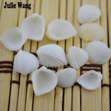 Julie Wang 20pcs Natural Seashells Scallop Fan Shells Crafts Accessories Nautical Decor Beach Wedding Ceremony Home Decoration
