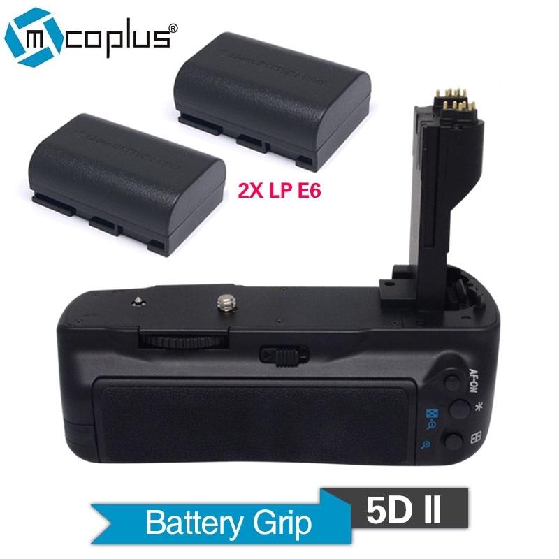 ФОТО Mcoplus Venidice VD-5D II Vertical Battery Grip with 2pcs LP-E6 batteries for Canon EOS 5D Mark II DSLR Camera BG-E6 as MK-5DII