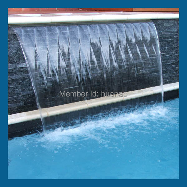 Outdoor Marble Wall Waterfall Fountain Modern Plastic