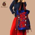 Hot-selling Ethnic canvas embroidered handbags Fashion Retro handmade beaded shoulder bags Vintage lagre casual tasse travel bag