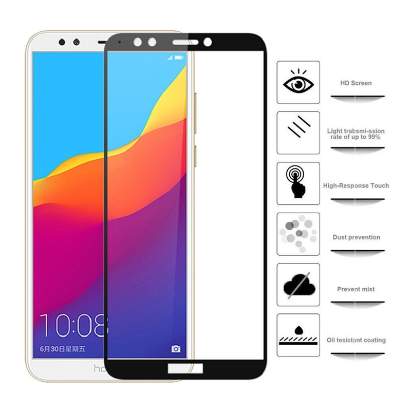 For Huawei Honor 7C Premium Tempered Glass Huawei Honor 7C Protective Glass AUM-L41 Russian Version 5.7'' Full Screen Protector