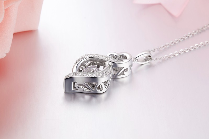for sterling silver jewelry necklace for women wedding DP18310A (5)