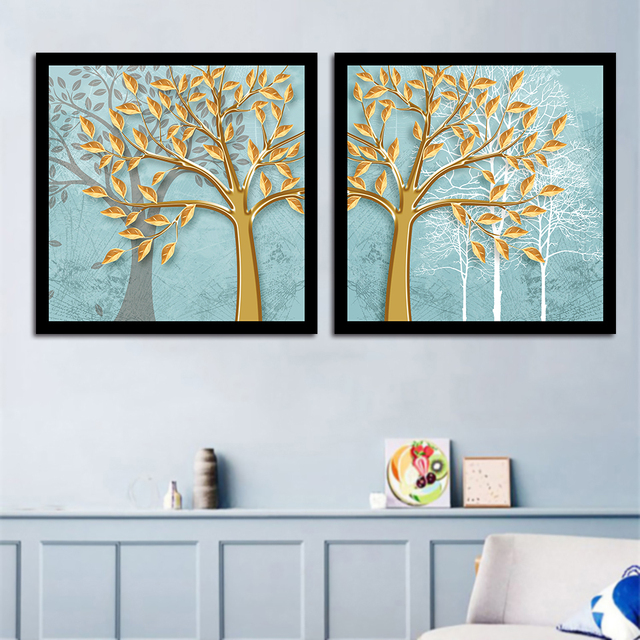 Us 1 88 41 Off Simple Nordic Style Poster Canvas Painting Quotes Watercolor Yellow Tree Art Prints Modular Bedroom Home Decoration Wall Picture In