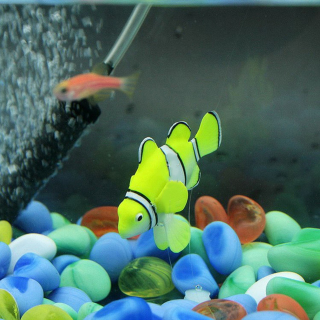 2016 Hot Electronic Pets Home Robofish Aquarium Decorations Robot Fish Robo Toys Fish Tank Decor Accessories Free Shipping