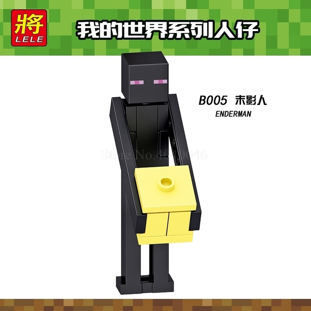 Us 09 B005 Legoing Minecraft Enderman Figure Building Blocks Funny Educational Toys For Children Legoing Minecrafted Toy Gift My World In Blocks