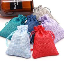 2pcs Size 9.5x13.5cm Cotton Bags Christmas Halloween wedding Diy Gift Box Packaging Wedding Candy Chocolate