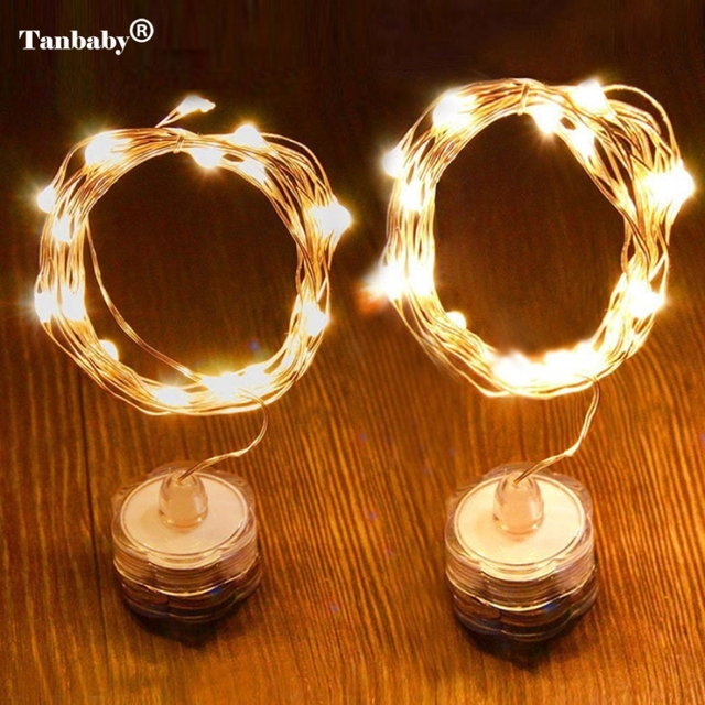 Tanbaby Submersible 2m 20 Led Copper Wire Starry String Lights Waterproof Holiday For Christmas Wedding