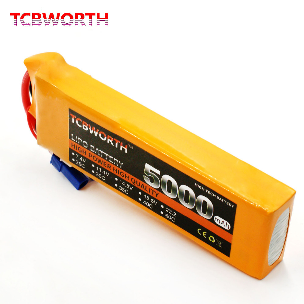 TCBWORTH 2S RC Airplane LiPo battery 7.4V 5000mAh 40-80C For RC Quadrotor Drone Helicopter AKKU Car Truck Li-ion battery tcbworth 11 1v 3300mah 60c 120c 3s rc lipo battery for rc airplane helicopter quadrotor drone car boat truck li ion battery
