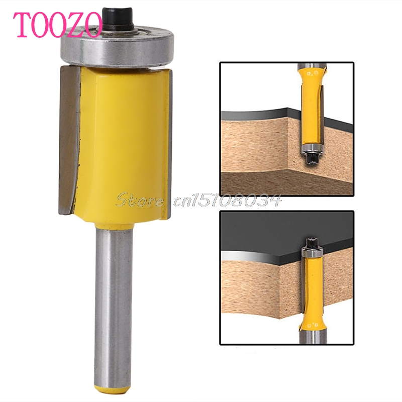 3/4 Pattern Flush Trim Router Bit with Bearing 1/4 Shank For Woodworking Tool #S018Y# High Quality freeshipping 1pc flush trim pattern router bit 1 2 shank top