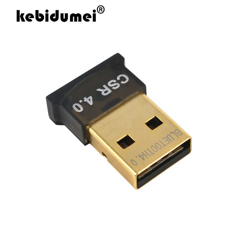 Kebidumei, adaptador de Mini USB Dongle Bluetooth V4.0, Dongle inalámbrico de modo Dual CSR 4,0 para Windows 10 Win 7 8 Vista XP portátil