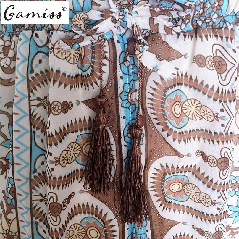 V-neck Vintage Floral Print Boho Long Maxi Split Beach Dress