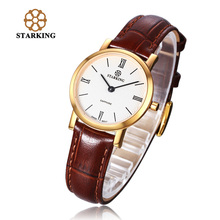 STARKING Luxury Women Quartz Watches Casual Leather Sapphire Ladies Dress Simple Gold Wrist Watches BL0897 moda relojes mujer