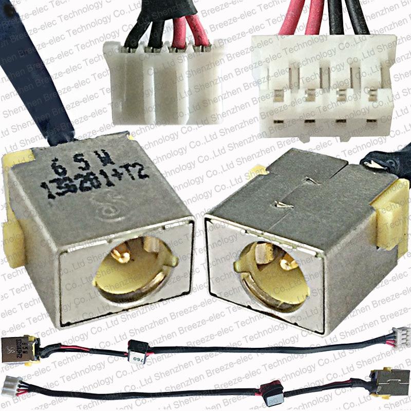 65 W nuevo portátil AC DC Power Jack socket cable conector para ACER Aspire V3-531 V3-551 V3-571 E1-521 E1-531 e1-571 serie