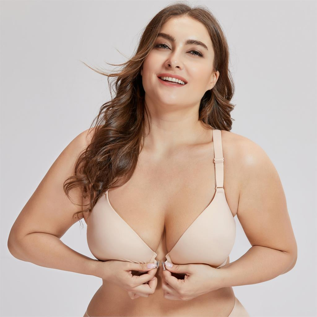 Image 4 - Women's Smooth Foam Full Coverage Underwire Front Closure  Racerback Bra-in Bras from Underwear & Sleepwears