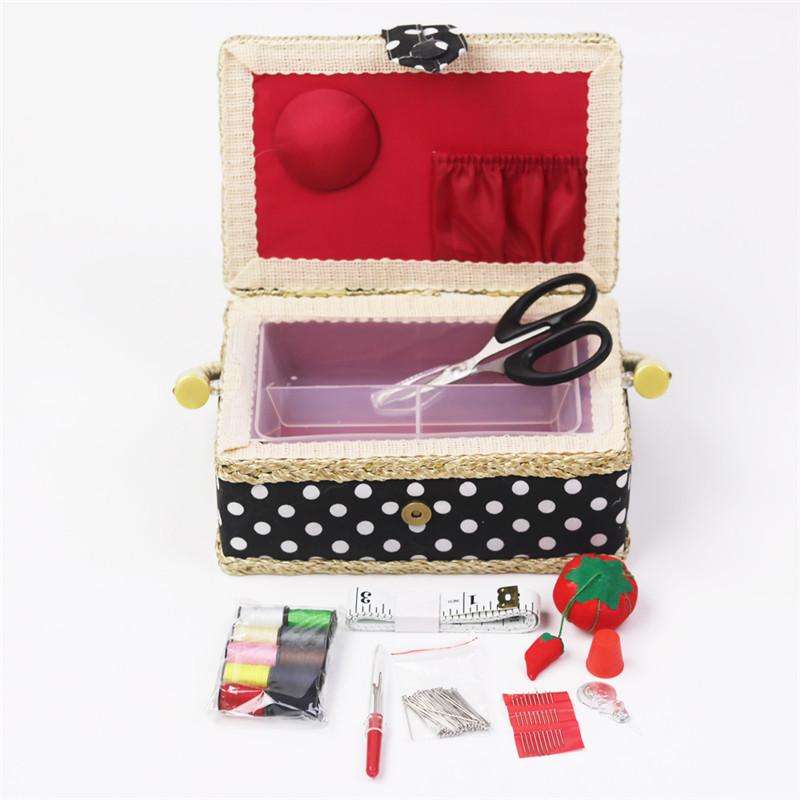 Handmade Cotton Fabric Storage Sewing Basket Sewing Thread Scissors Tools Accessory Craft Tools Storage Box For Women Wife Gift  (7)