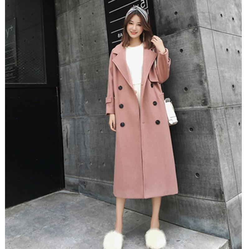 Sobretudo Acetate New Real Sale Abrigo Mujer Winter Coat Autumn And 2018 Fashion Mid length Over