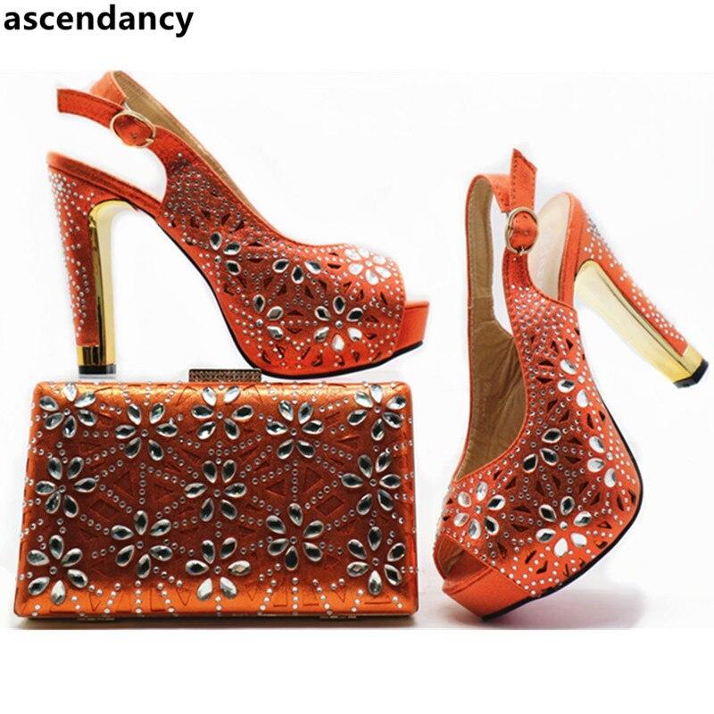 De Emparejar gold rojo Bolsos Rhinestone sky Bolsa Boda Decorado Mujeres La orange Para Venta purple Nigeriano Partido Zapatos Con Y Blue Pink Conjunto 14PBx5wq