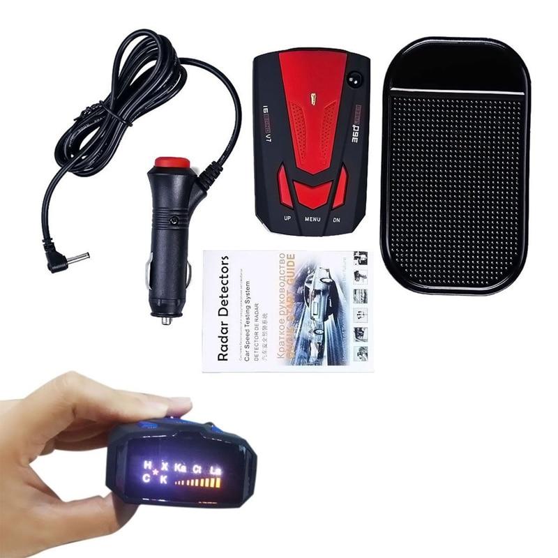Detector de radares para coche en Inglés/ruso de 360 grados para vehículo V7, alerta de sonido de advertencia de velocidad, 16 bandas, Detector de pantalla LED V 7 OkeyTech, Sensor de aparcamiento Parktronic, 4 Sensor de marcha atrás, Detector de Radar, LED Digital, asistencia para aparcamiento de coches, sistema de alarma para todos los coches