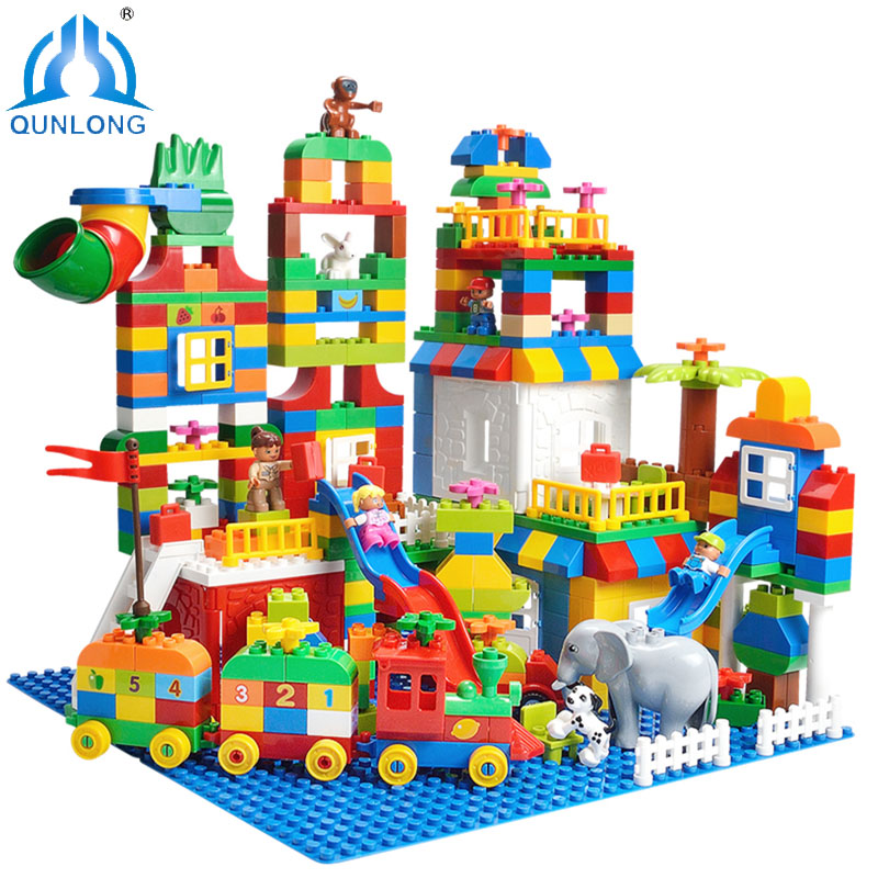 Funny DIY Paradise Colorful Number Train Bricks Building Blocks Toy For Children Christmas Gift Compatible Legoe Duplo Brinquedo new idea gift solar energy blocks toy transfer boat car train electric toys for children education diy game tool bricks outdoor