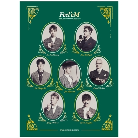 BTOB 10TH MINI ALBUM - FEEL EM  Release Date 2017.03.07 574680 001 1gb system board fit hp pavilion dv7 3089nr dv7 3000 series notebook pc motherboard 100% working