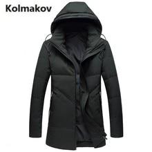 KOLMAKOV 2017 new winter high quality men's fashion hooded collar down jacket parkas,80% white duck down coats men.size L-4XL