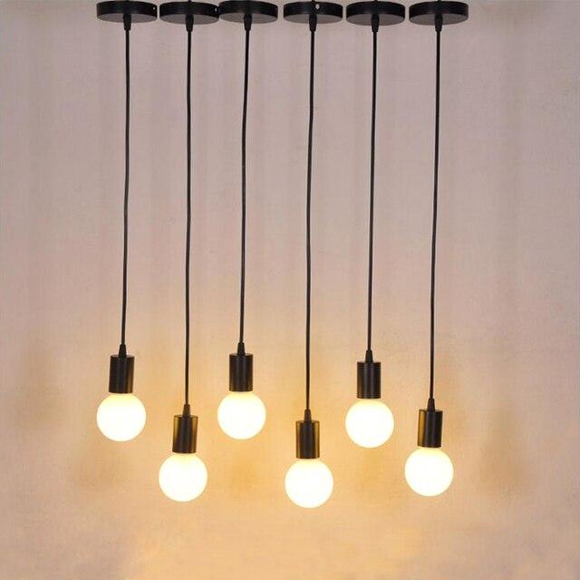 Morden Aluminum Pendant Lights Creative DIY Droplight Pendant Light E27 L& Holder Home Decoration Lighting Bulb & Morden Aluminum Pendant Lights Creative DIY Droplight Pendant Light ...