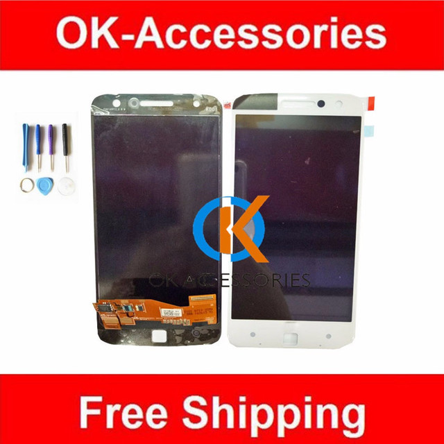 Black White Color 1PC/Lot For Motorola Z XT1650  LCD Display+Touch Screen Digtizer Assembly With Free Tools