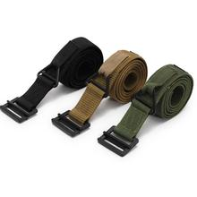 Buy Unisex Army Fan Military Belt Nylon Belt Metal Buckle Adjustable Heavy Belt Outdoor Sports Climbing Rescue Dropping Accessories directly from merchant!