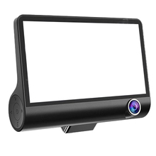 4 inch car inside and outside the three car DVR-black