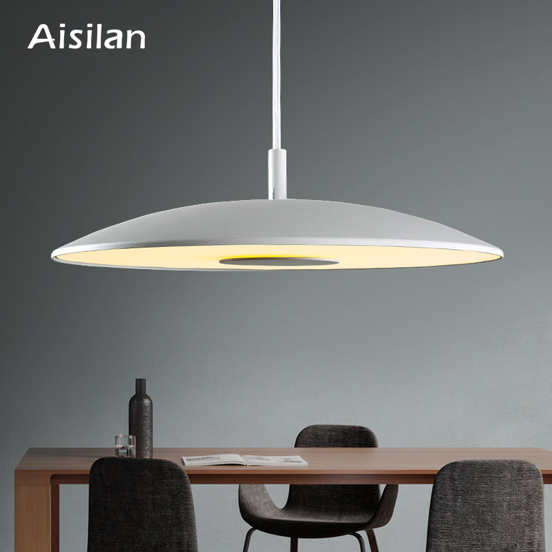 Aisilan Kitchen Nordic fashion simple led pendant light for dining room aluminum hanging study room lamp