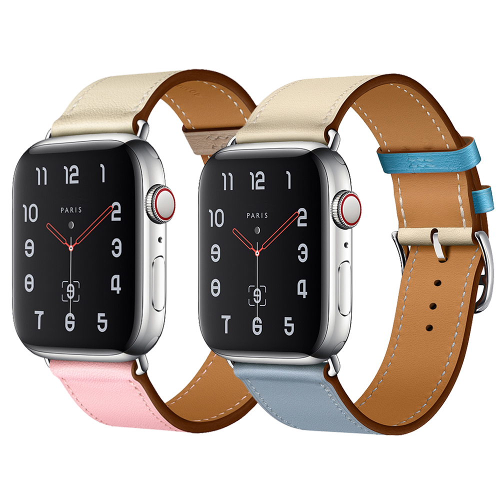Pulseira Strap for apple watch band iwatch 42mm 38mm 44 mm 40mm i correa Cow Leather Watchband appel 4
