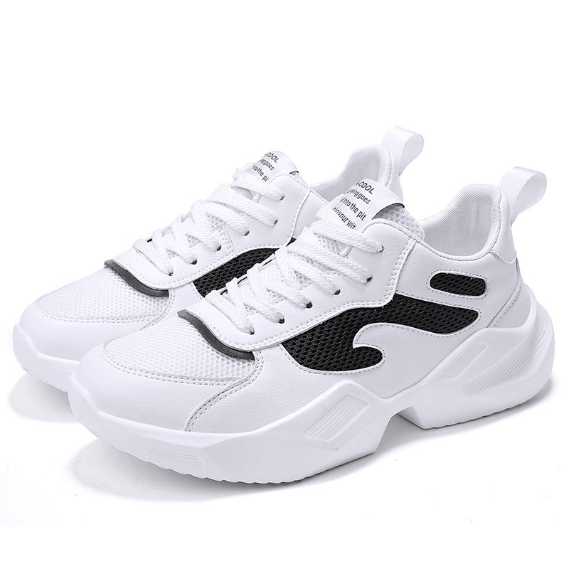 LAISUMK Spring Men Comfortable Sneakers Men Trainers Light Shoes Male Breathable White Lace Up Outdoor Walking Shoes in Men 39 s Casual Shoes from Shoes