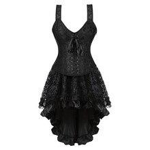 caudatus lace corset with straps plus size bustier overbust corset skirts for women party dresses costume vintage sexy zipper