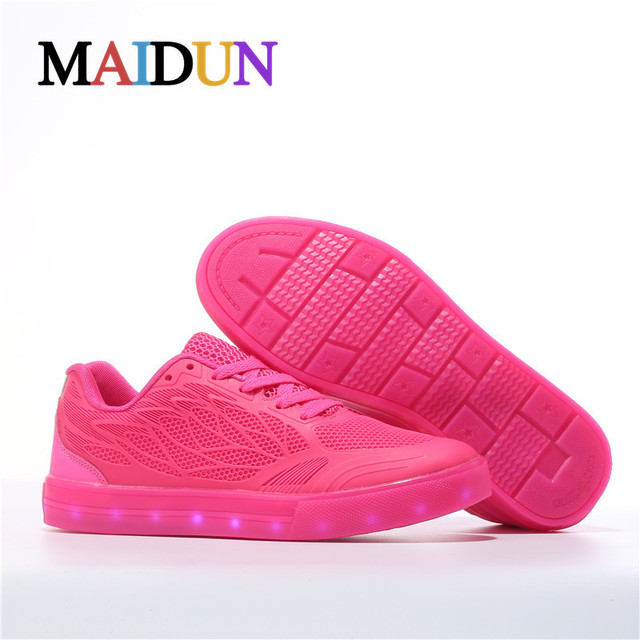 d0f252731b4 2017New Fashion Light up Footwear shoes woman zapatillas deportivas mujer  LED colorful luminous neon shoes ugs women flashing