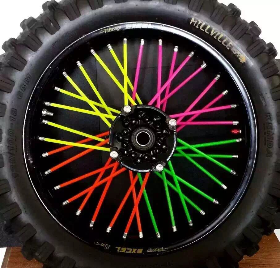 Motocross Spoke Skins Wheel Rim Spoke Covers For Kawasaki