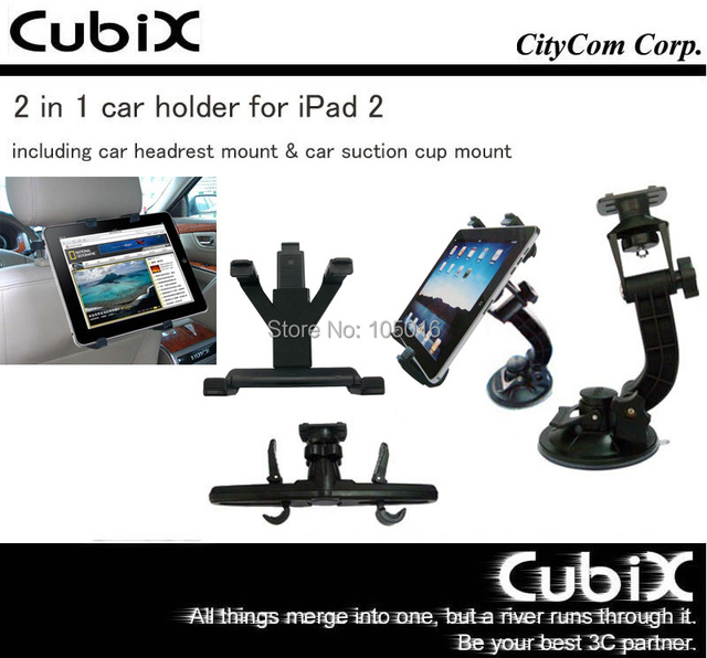 2 in 1 Strong Car Holder for iPad 2