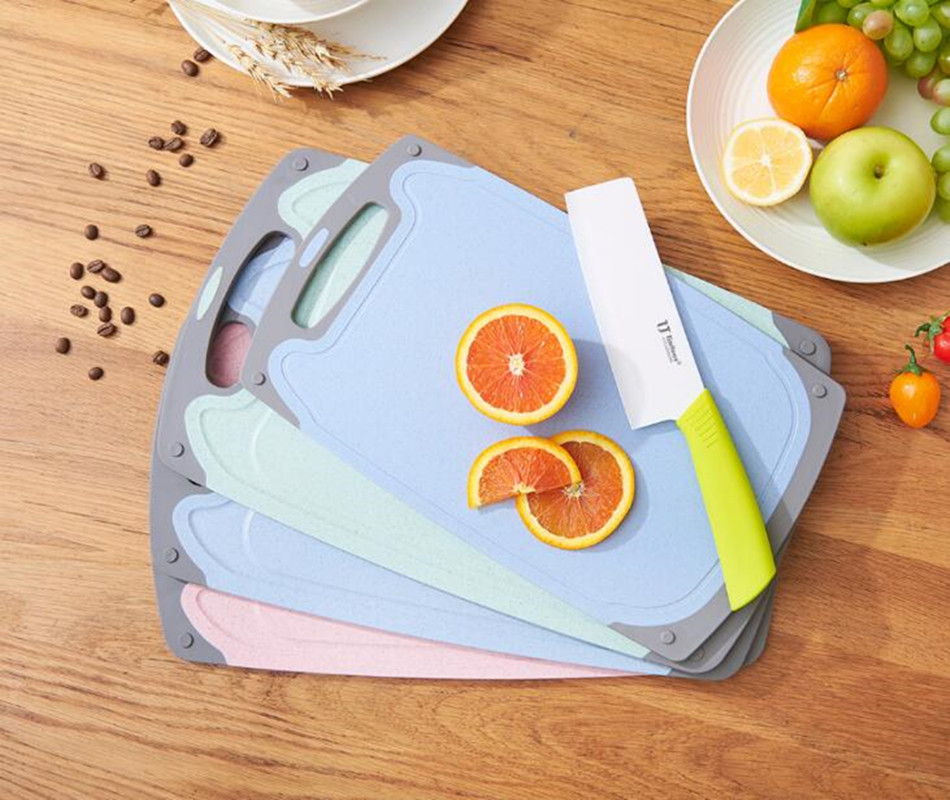 Multifunction Heat Resistant Dishwasher Wheat cutting boards Safe Kitchen Tools fruit Antibacterial Chopping Board