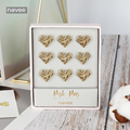 Never Heart Shape Thumb Tack Gold Metal Push Pins Paper Map For Cork Board Capped Fixing Thumb Tacks Pin Office Accessories Gift