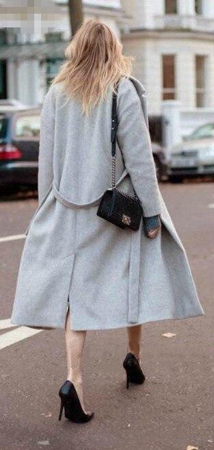 Occasionnel Survêtement D'hiver Light Femme Cachemire Imitent Laine Gris Femmes Manteau Manteaux Mode 2018 De Long Grey Nouveau qvfwxz1