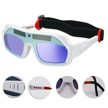 1pc LCD Screen Solar Powered Auto Darkening Mask Helmet Goggle Welding Glasses Eye Goggles Eyeshade welder Protective