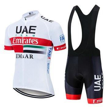 2019 equipo de Emiratos Árabes Unidos Jerseys de Ciclismo bicicleta Ropa seca...