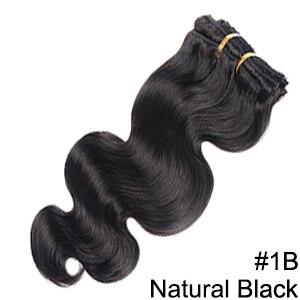 Doreen заколки для волос в полный набор головы 160 г 200 г искусственные волосы одинаковой направленности настоящие натуральные человеческие волосы для наращивания зажим для волос - Color: #1B