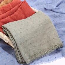 Bufanda hiyab de Color liso para mujer, pañuelo de lunares, chal musulmán, envolturas de viscosa, banda islámica, bufandas musulmanas