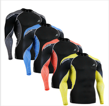 Men s Fitness Shirts Running Training Compression Skin Tights Long Sleeve Breathable Quick Dry Bodybuilding T
