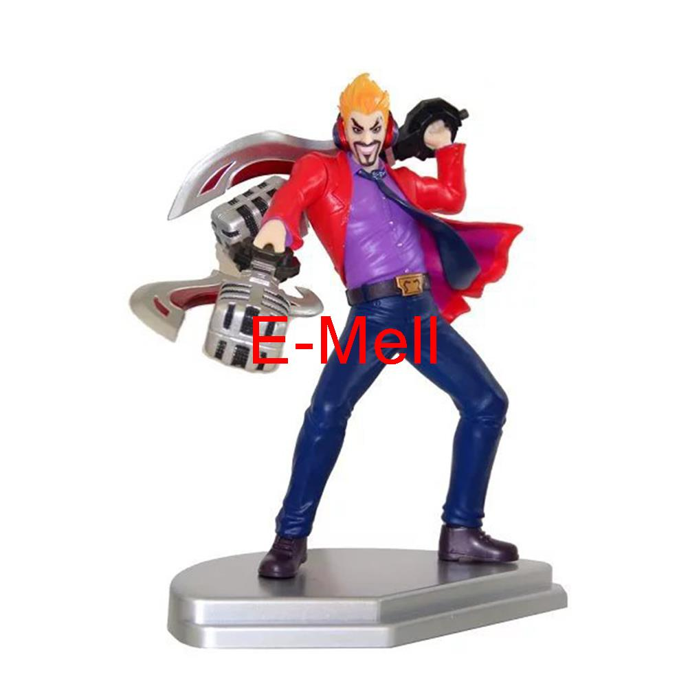 Cosplay 21cm/8.7'' LOL Draven PVC GK Garage Kits Action Figures Toys Model made for lol cosplay the loose cannon jinx 24cm 9 5 middle pvc gk action figures toys garage kits standing model