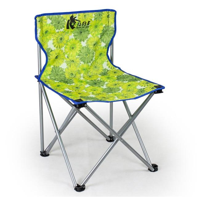 Vogue Portable Detachable Aluminium Alloy Camping Extended Chair Folding Fishing BBQ Beach Garden Chair For Outdoor Activities
